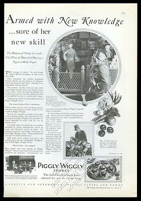 1928 Piggly Wiggly store housewife 4 photo vintage print ad