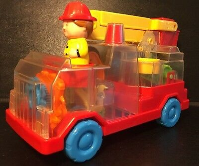 Vintage 1988 Playskool Push and Go Helecopter Clear Working Gears Rare HTF