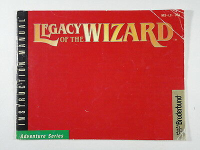 ¤ Legacy of the Wizard ¤  (MANUAL ONLY) Good! Nintendo NES