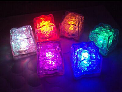 24 pcs Flash Ice Cube with 8 Mode of Multi Color Blinking LED Light Water Proof