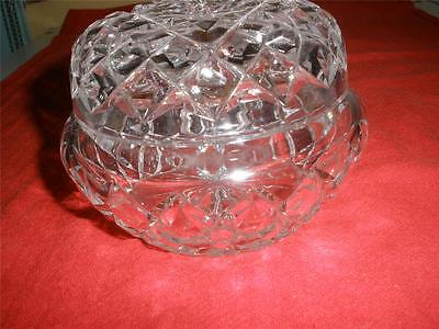 FABULOUS PATTERNED CRYSTAL DISH AND LID CRISTAL d'ARQUES FRANCE