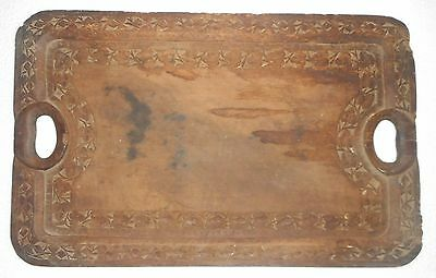 India Vintage wooden wood tray hand carved & handmade.m1110