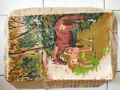 Tapestry Craft Picture Completed Framed Horse & Pony 53.5 X 35.5 Cm