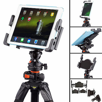 "Tablet Tripod 1/4"" Mount for Apple iPad Air Mini Pro 9.7"" and Samsung Galaxy Tab"