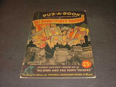 Puz A Book Ali Baba & The 40 Thieves 1944 Rand McNally Universal Picture ID:1228