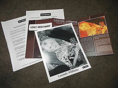 LUCINDA WILLIAMS World Without Tears Press Kit With 8x10 Promo Photo