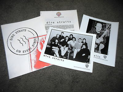 DIRE STRAITS On Every Street 1991 Deluxe Press Kit With 8x10 Photos + Folder