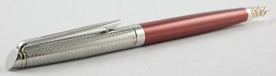 Waterman Hemisphere 16 Lux Rose Cuivre With Chrome Trim Ball Point Pen Stunning!