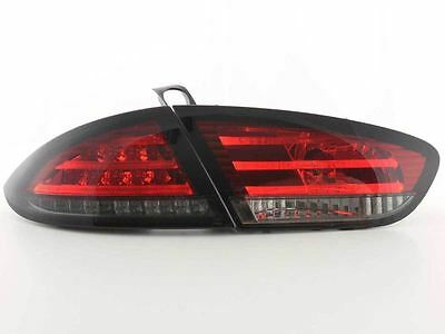 Seat Leon MK2 1P 2009-2012 Red and Smoked LED Lexus Rear Tail Lights Lamps Pair