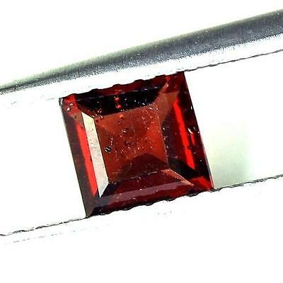 #0.86 cts. 5.2 x 3.2 mm. NATURAL SQUARE RED ALMANDINE AFRICA
