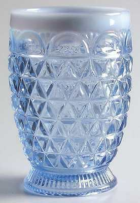 Imperial Glass Ohio LACED EDGE BLUE OPALESCENT (KATY) 9 Oz Tumbler 4113681