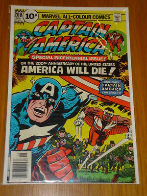 Captain America #200 Marvel Comic Near Mint Kirby August 1976