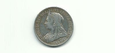 Great Britain Uk 1899 One Shilling Silver Coin