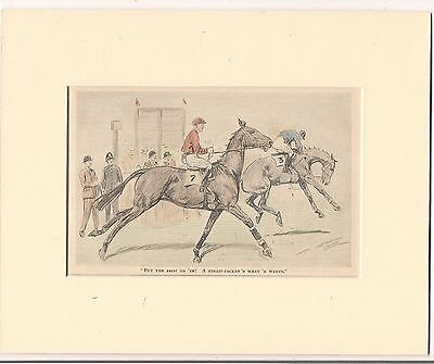 Amusing Vintage 1936 Punch HORSE RACING Cartoon ready for framing