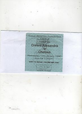 CREWE ALAXANDRA v CHELSEA (FA CUP--3rd Round--Replay) 1989/90