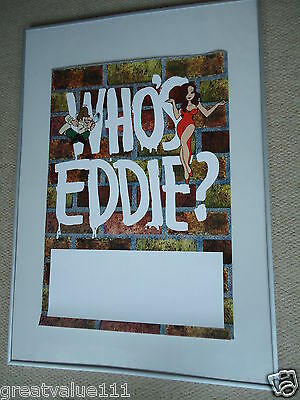 Who`s Eddie? Concert Gig Poster 1992 Unreleased Printers Gig Poster Rarevaluable