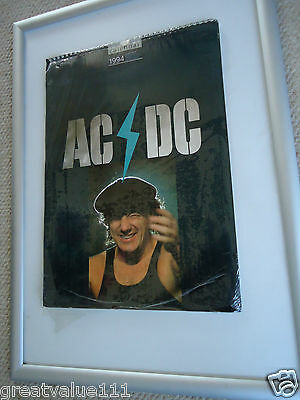 Ac/dc Calendar 1994 Original Exceptional Vintage 22 Year Old Rare Valuable Gem!