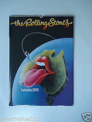 The Rolling Stones Calendar 2002 Original Vintage 14 Year Old Rare Valuable Gem!