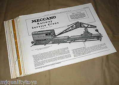 MECCANO 1-20 INSTRUCTION LEAFLETS FOR THE No.10 OUTFIT