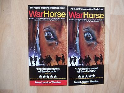 2 different flyers War Horse New London Theatre London