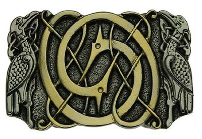 Gold Plated Celtic Birds Belt Buckle In a Gift Box.