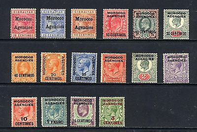 MOROCCO AGENCIES , 16 x stamps mounted mint