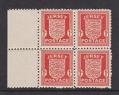 Jersey 1941 Kgvi Arms Sg2 Block Of 4 Unmounted Mint