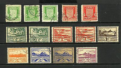 JERSEY , 14 x stamps fine used