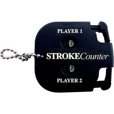2 Player Golf Stroke Counter - Match Game Score Keeper Golfing Accessory