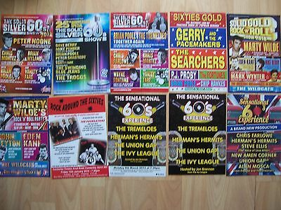 10 different flyers The Solid Silver 60s Shows type tours