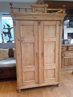 Beautiful Antique Pine Wardrobe Delivery Possible