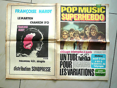 """Magazine """" Pop Music """" N° 63 Poster Geant Stones/chicago A L'olympia Complet Tbe"""