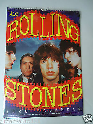 The Rolling Stones Calendar 1998 Original Vintage 18 Year Old Rare Valuable Gem!