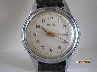 40's Vintage Oris All Stainless Steel Gent's Mechanical Watch