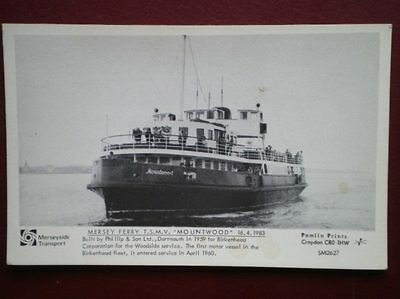 Postcard Rp Ferries Mersey Ferry T.s.m.v. 'mountwood' 1983