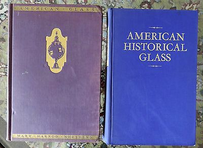 American Historical Glass & American Glass*2 hardcover books*Northend*Lindsey