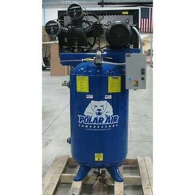 7.5 HP 3 Cylinder 3 Phase 80 Gallon Vertical Air Compressor by Eaton