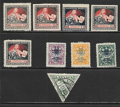 LATVIA 1921-1923 Semi Postal and Airpost Mint and Used Issues (Nov 0230)
