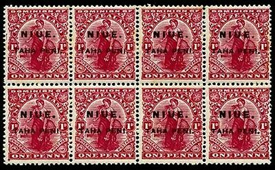 NIUE Sc.# 19 Block of 8 Mint NH Stamps