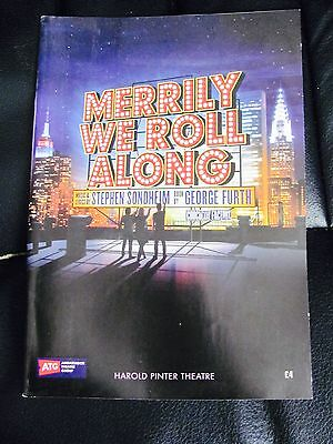 Merrily We Roll Along London Musical Theatre Programme Signed 2013 Cast Sondheim