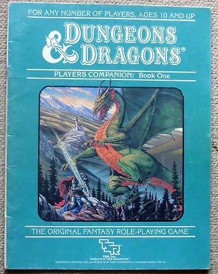 Dungeons & Dragons Dungeon Masters + Players Companion Books , TSR 1984