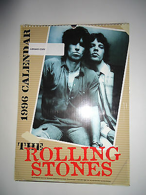The Rolling Stones Calendar 1996 Original Vintage 19 Year Old Rare Valuable Gem!