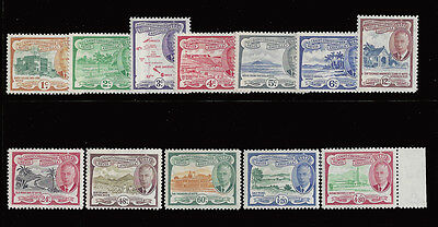 St Kitts Nevis Anguilla stamps 1952 1c - $4.80 KGVI (SG94-105) MNH £29/$40