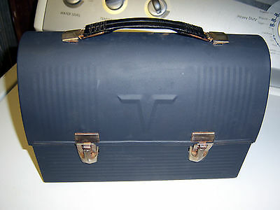 Vintage Thermos Dome Lunch Box black metal