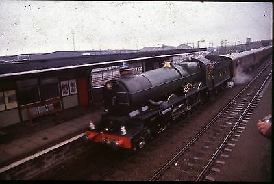 35Mm Colour Slide Steam Loco Gwr No.6024 King Edward 1 At Station Special 1994 A
