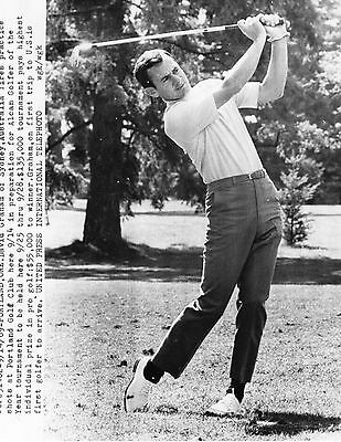Vintage Golf Photograph David Graham Practice Alcan Golfer Event Portland 1969