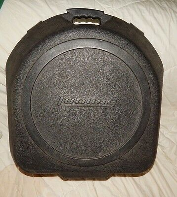 LUDWIG SNARE DRUM CASE Hard Clam shell  Style Solid Clean Good Condition