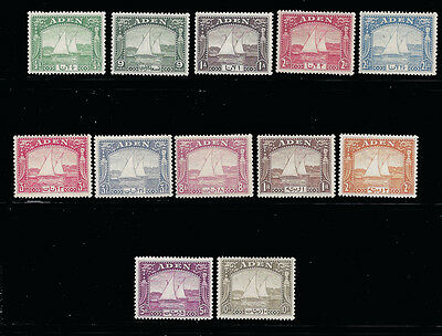 Aden stamps 1937 Dhows 1/2a – 10 (SG1-12) MVLH £1200 /$1500