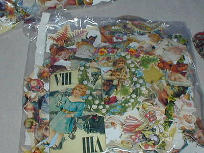 Big Bag Die Cut Embossed Scrap Book Pictures Scraps For Decoupage Cards