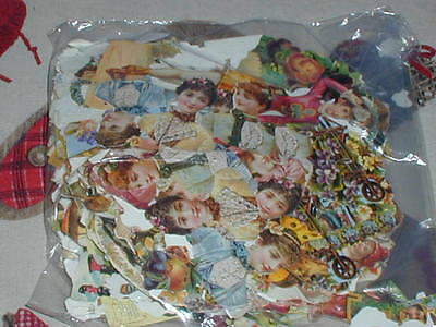 Bag Die Cut Embossed Scrap Book Pictures Scraps For Decoupage Cards